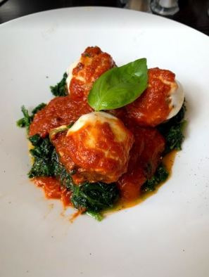 Meatballs-spinach